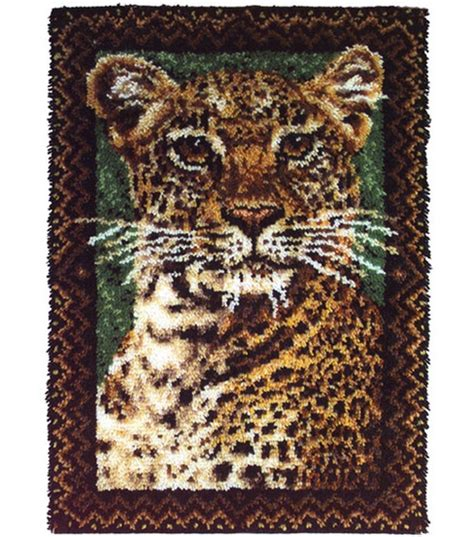 latch rugs new wonderart 27 x40 latch hook kit leopard kit latch hook rug kit latch hook rugs