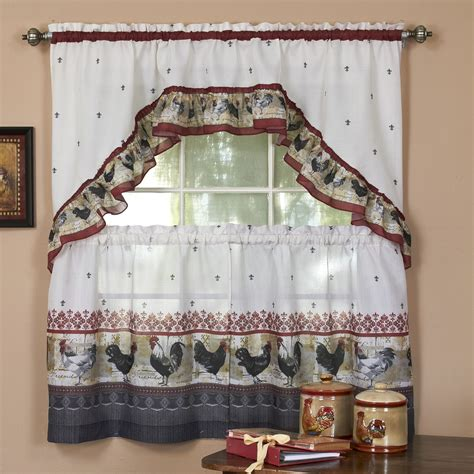 Rooster Kitchen Curtains Shop Everything Log Homes Kitchen Curtains Shop
