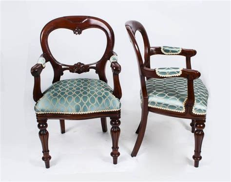 vintage victorian style balloon  dining chairs set