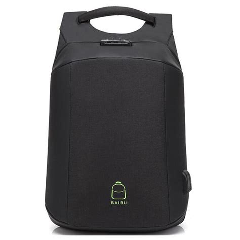 Tas Anti Maling Anti Thelypteridaceae Backpack baibu tas ransel anti maling coded lock dengan usb charger port aux port zl1960 black