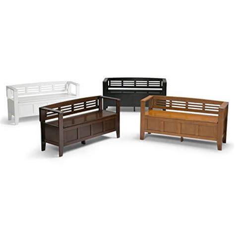 adams bench simpli home adams entryway storage bench insteading