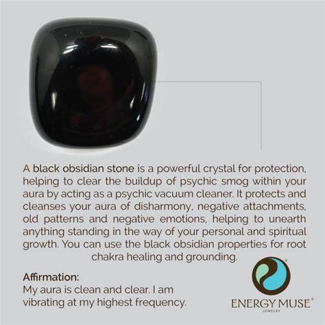 Black Obsidian Stone, Shop Energy Muse's Black Obsidian