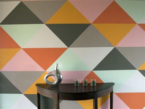 triangle pattern on wall diy triangle accent walls made easy echotape