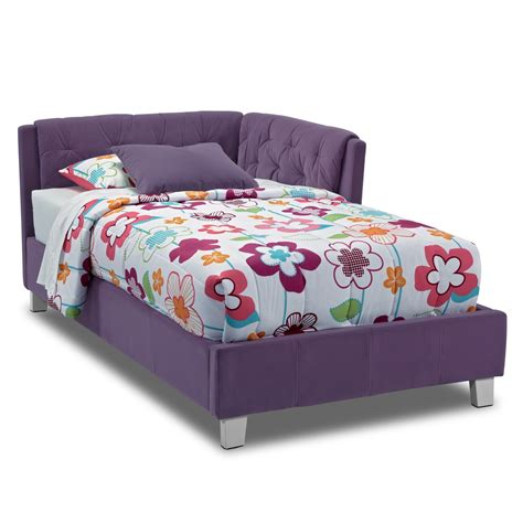 Corner Bed Frame Corner Bed Purple Value City Furniture