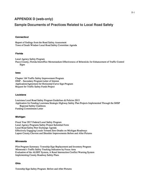 Official Letter On Road Safety 9 Road Safety Official Letters Budget Reporting