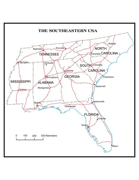 map of the southeastern united states with cities map southeast usa new calendar template site