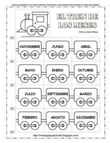 El Calendario Worksheet El Tren De Los Meses A 209 O Worksheets