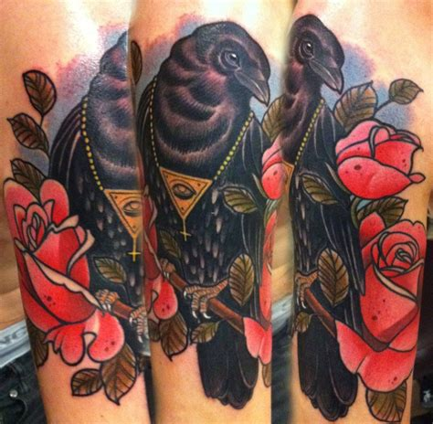 traditional crow tattoo traditional i don t if i like these