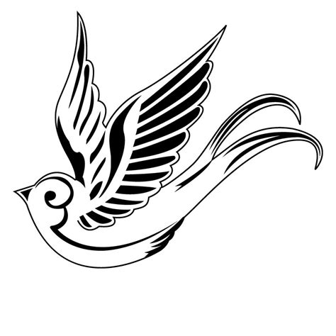 black and white swallow tattoo designs superb black and white flying sparrow design