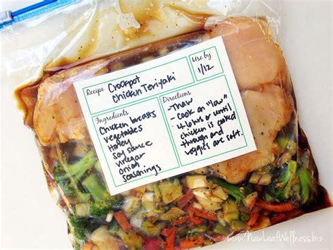 Freezer Frozen Food six healthy freezer crockpot meals in 50 minutes new
