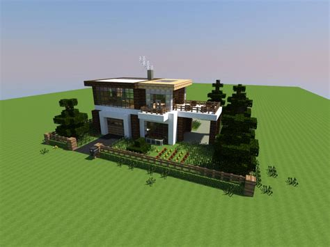 modern houses minecraft tweet