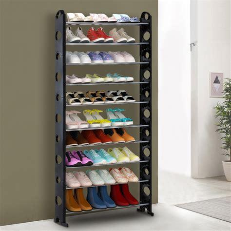 bookshelf shoe storage black ikayaa portable 10 tier standing shoe rack organizer
