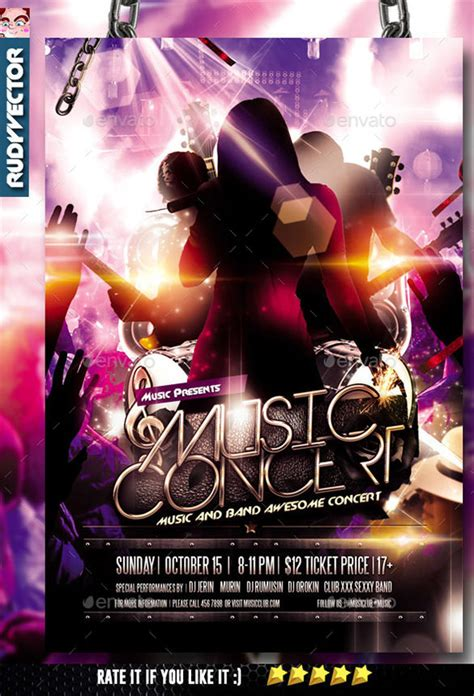 26 Psd Band Flyer Templates Designs Free Premium Templates Free Concert Flyer Template