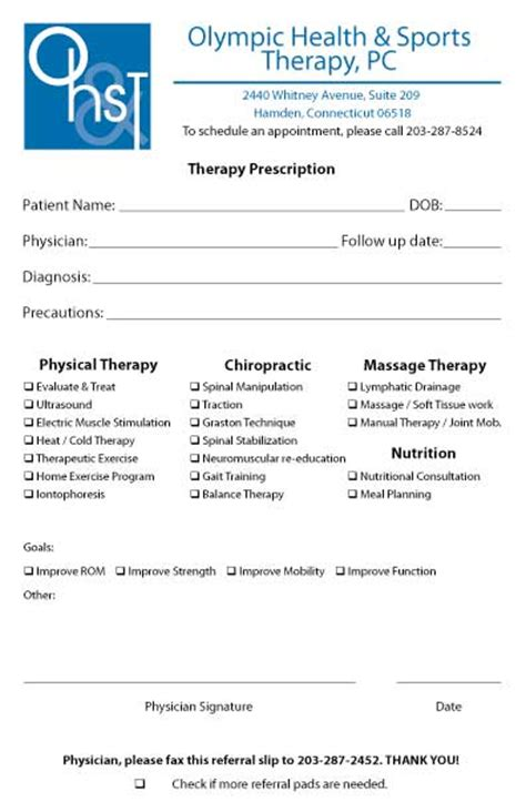 Referral Pad Sles By Specialty Medical Forms Occupational Therapy Referral Form Template