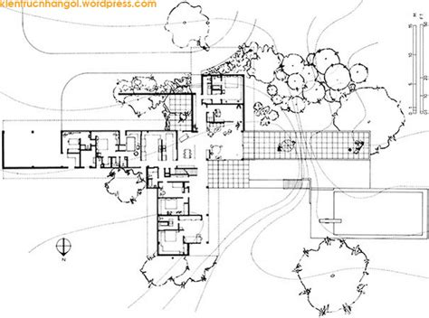 kaufmann house floor plan the kaufmann house floor plan house design plans