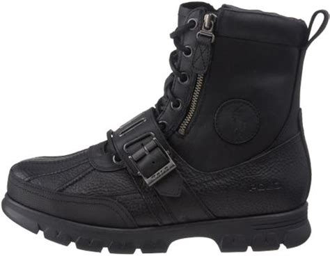 polo ralph mens andres ankle boot in black for
