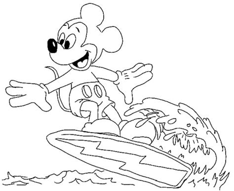 mickey mouse beach coloring pages mickey mouse summer coloring pages printable get