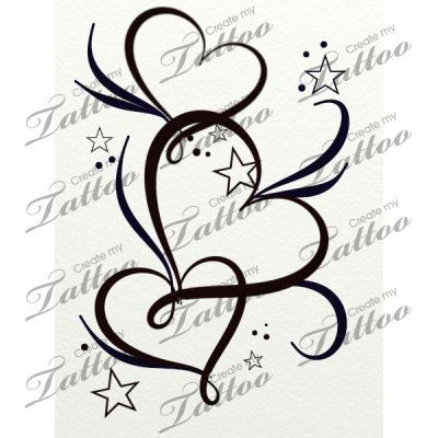 three heart tattoo designs best 25 tattoos ideas on flower