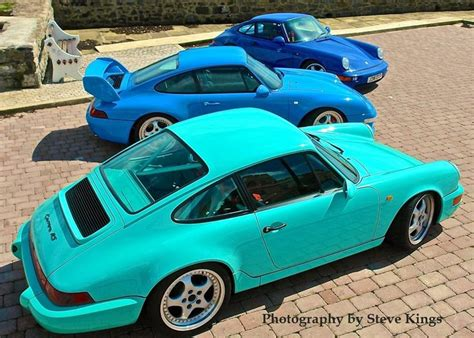 porsche maritime blue 964 rs clubsport mint green 993 rs riviera blue 964 rs