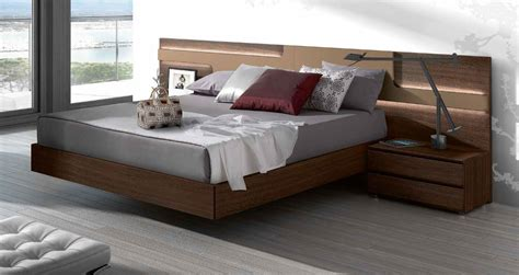 bed with headboard lacquered made in spain wood elite platform bed with large