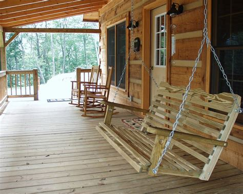 log cabin front porch swing log cabin love pinterest build a log porch swing