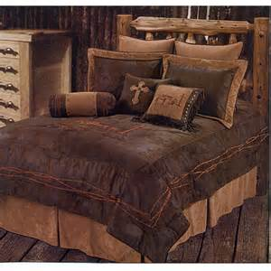 Fleur De Lis Bedding Praying Cowboy Dark Western Bedding Comforter Set