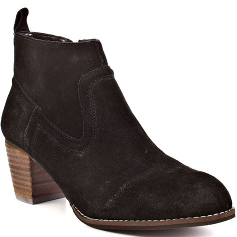 dolce vita ankle boots dv by dolce vita jamison suede ankle boots in black lyst