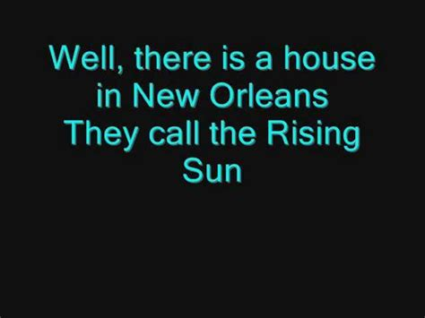 the house of the rising sun lyrics the animals house of the rising sun lyrics allmusicsite com