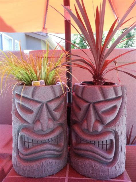 Tiki Planters by Angry Tiki Planter The Green