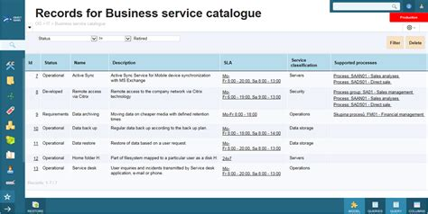 business service catalogue template service catalogue objectgears