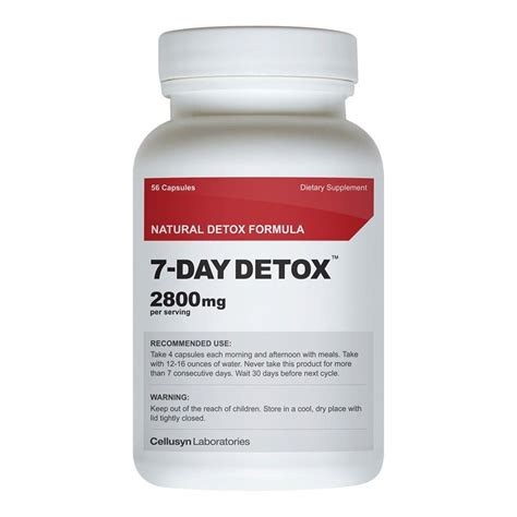 How To Detox Your From Diet Pills by 7 Day Detox Seven Day Detox 7 Day Diet Jump Start