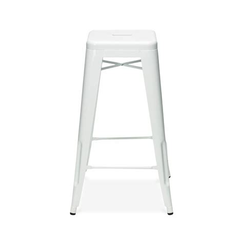 white poo 65cm white powder coated stool cult uk