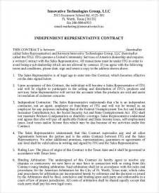 independent sales contractor agreement template sle contract agreement 30 exles in word pdf