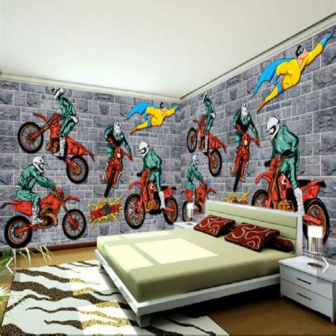 motocross bedroom wallpaper creative motocross sports a large mural 3d wallpaper