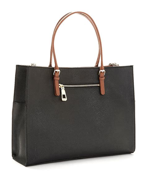 Ck Fendi Jour By Honshop calvin klein leather satchel handbag in black lyst