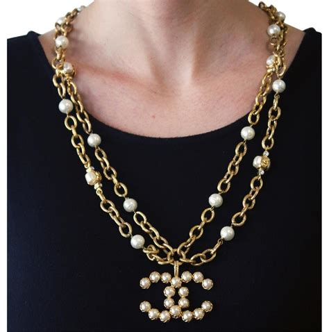 The It Item Of The Season Pearls by Chanel Yellow Vintage 28 Season Collection Row Faux