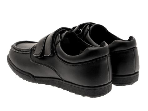 school shoes for size 13 new boys black formal loafers school shoes velcro