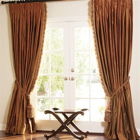 striped silk drapes hand made striped silk drapes and roman blinds on sale