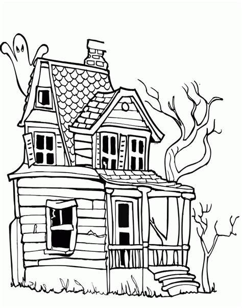 spooky castle coloring page 88 haunted house coloring page scary haunted house