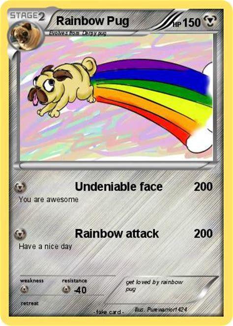 rainbow pug pok 233 mon rainbow pug 1 1 undeniable my card