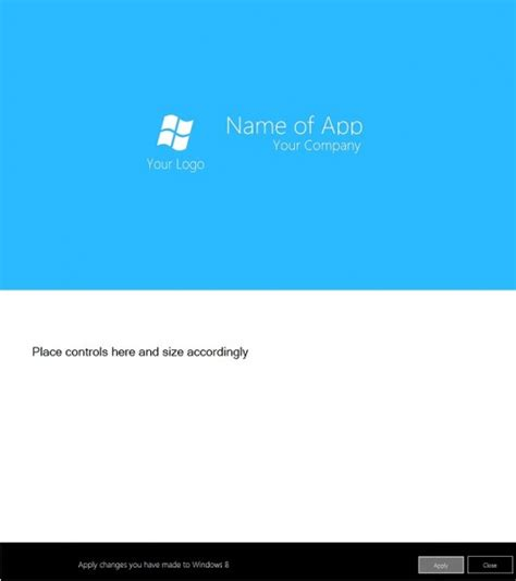 free windows 8 metro style template for visual basic 2010