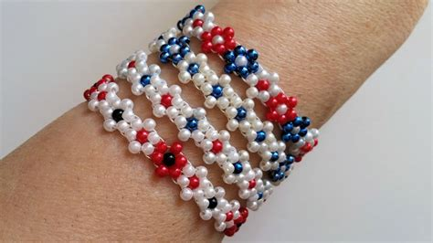 learn to make beaded jewelry 4 bracelets 1pattern learn to make beaded flowers