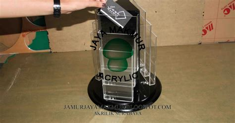 design rak brosur acrylic jaya makmur akrilik display rak tempat brosur