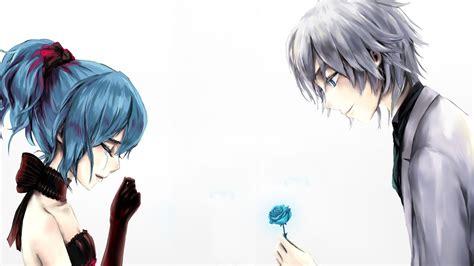 anime boy or girl pt 2 anime love couple boy giving rose to cry girl wallpaper
