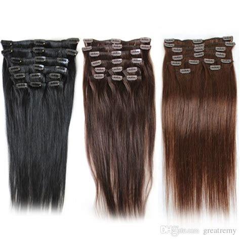 cheap human hair extensions clip in cheap clip in human hair extensions staight 1 2