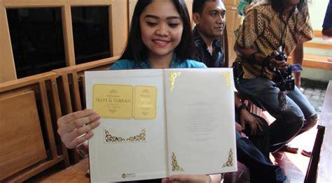 desain undangan pernikahan anak jokowi desain cantik undangan pernikahan gibran dan selvi