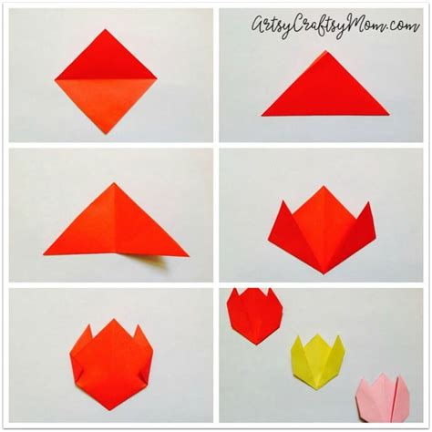 Day Origami - easy origami tulip craft for easy origami and origami