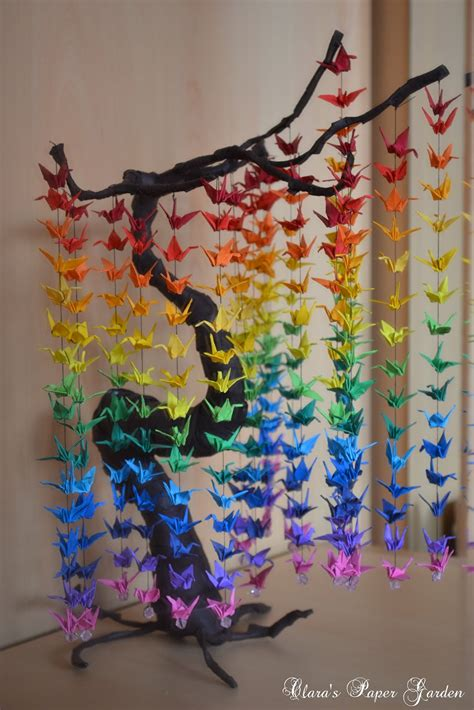 Diy Paper Crafts - guide on how to create a colorful rainbow diy crane
