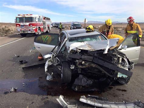 man injured  car slams  semi victor valley news group vvngcom