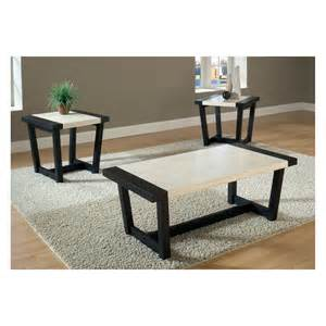 3 Set Coffee Tables Bernards Century Black White Faux Marble 3 Coffee